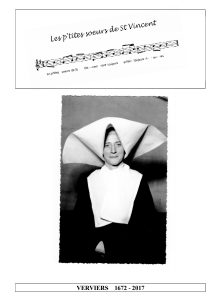 Brochure sur l'histoire des Filles de la Charité