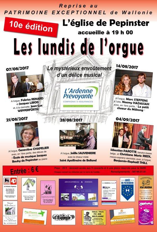Lundis de l'orgue à Pepinster @ Eglise Saint Antoine Ermite | Pepinster | Wallonie | Belgique
